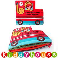 bb嬰兒玩具~Fire Fighter 立體響紙早教嬰兒布書 T532 現貨