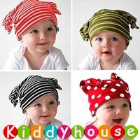 【限時特價】百日宴bb嬰兒影相用品/女童派對髮飾~可愛針織 bb牛角帽 Baby Hat(9款)/嬰兒頭飾 Baby Hat  H097(1-9) 現貨