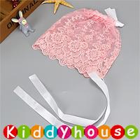 百日宴bb嬰兒/女童派對髮飾物用品~優雅蕾絲小公主BB帽(粉紅) Baby Bonnet H611 現貨