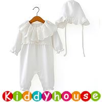 嬰幼兒bb衫~小公主百日宴禮服長袖夾衣連帽套裝 BB1443  現貨