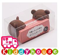 嬰兒家居安全用品~可愛動物高級矽膠安全防撞/防護角(啡熊2枚組) OT052  現貨