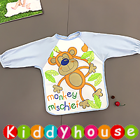嬰兒bb用品~可愛有趣動物圖案幼童飯衣/口水肩/小圍裙 BB1434 現貨