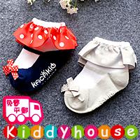 bb嬰兒用品~優質小公主波點花邊防滑襪2對裝 S271 現貨