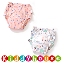 bb嬰兒用品~嬰幼兒四層純棉紗布質地防水學習/(介)戒片/隔尿褲(2條裝) BB1502 現貨