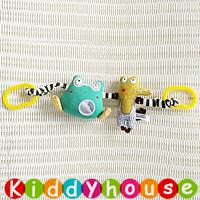 【限時特價】BB嬰兒玩具~跳皮青蛙+鱷魚先生車床掛/吊飾 T452 現貨