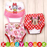 bb嬰兒用品~嬰幼兒三層棉質防水學習戒(介)片隔尿褲(3條裝) BB1089 現貨