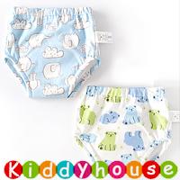 bb嬰兒用品~嬰幼兒六層純棉紗布質地防水學習/戒片/隔尿褲(2條裝) BB1439 現貨