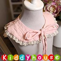 嬰兒用品~百日宴 派對襯衫推介 韓款公主純棉田園風蕾絲頸圍 領巾 BB1157  現貨