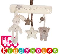 bb嬰兒玩具~可愛小兔小熊音樂車床掛/吊飾 T191