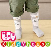 bb嬰兒用品~優質可愛嬰兒/小童中筒地板防滑襪(貓頭鷹) S241 現貨