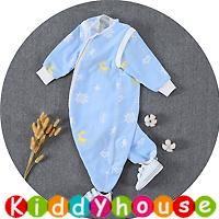 BB嬰兒用品~6層純棉紗分腿型可拆袖防踢被睡袋(M碼) BB1462 現貨