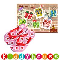 【限時特價】兒童用品~可愛童裝兒童沙灘拖鞋(蕾絲草莓) S0110 現貨