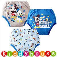 bb嬰兒用品~嬰幼兒三層棉質防水學習/戒(介)片/隔尿褲(3條裝) BB1229 現貨