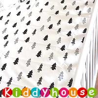 BB嬰兒用品/禮物精選~Muslin Tree優質40S精梳純棉嬰兒床單(黑白樹) NP048 現貨