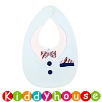 嬰兒bb用品~趣緻小紳士造型防水口水肩 BB1429 現貨