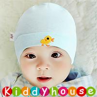 百日宴bb嬰兒/女童派對髮飾物用品~柔軟純棉小鴨魚BB帽(粉藍) Baby Hat H593 現貨