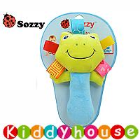 bb嬰兒玩具/禮物精選~Sozzy可愛動物嬰兒益智(小青蛙)手搖鈴棒T184 現貨