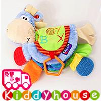 【限時特價】bb嬰兒玩具~趣緻小驢多功能嬰兒布書 T397 現貨