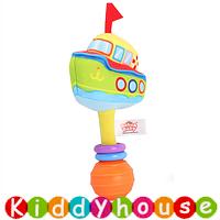 bb嬰兒玩具~趣緻卡通交通工具手搖棒(遊艇) T550 現貨