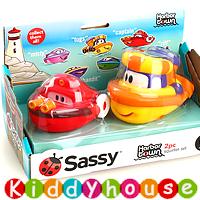 bb嬰兒玩具~Sassy沖涼/戲水玩具船套裝(紅/橙) T379 現貨
