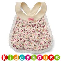 嬰兒bb用品~日系純棉小公主口水肩圍裙(小碎花) BB1307 現貨