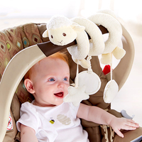 bb嬰兒玩具~軟綿綿小羊車床繞 T487 現貨