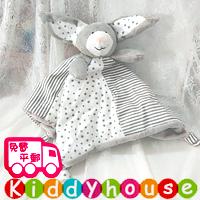 【限時特價】bb嬰兒玩具~小灰兔柔軟安撫巾 T443 現貨