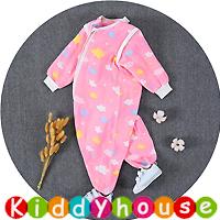 BB嬰兒用品~6層純棉紗分腿型可拆袖防踢被睡袋(M碼) BB1460 現貨