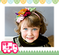 百日宴bb嬰兒影相用品/女童派對髮飾~幼帶彩花頭飾髮帶 小童飾物 兒童髮飾 Elastic Flower Headband H083 現貨