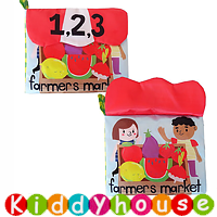 bb嬰兒玩具~Farmer Market立體蔬果數字早教嬰兒布書 T533 現貨