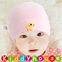 百日宴bb嬰兒/女童派對髮飾物用品~柔軟純棉小鴨魚BB帽(粉紅) Baby Hat H595 現貨