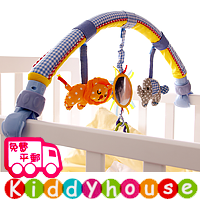 bb嬰兒車玩具/禮物精選~Sozzy小動物嬰兒車床夾 T329 現貨