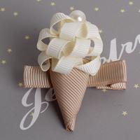【限時特價】百日宴bb嬰兒/女童賀新年 派對髮飾物用品~可愛立體絲帶小童嬰兒髮夾(每隻) Toddler Hair Clip H535 現貨