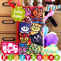 bb嬰兒玩具~JollyBaby動物世界立體小尾巴早教英文布書(KT貓尾巴) T170  現貨