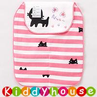 【限時特價】bb嬰兒用品~優質5層紗布大號墊背吸汗巾(小貓) BB1371 現貨