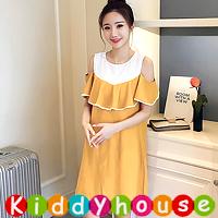 online香港孕婦時裝服飾專門店hk~簡約上班哺乳裝餵奶衫裙 MF374 現貨