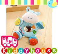 【限時特價】bb嬰兒玩具~可愛動物造型手搖鈴/寶寶發育必備小玩偶(小斑馬) T132 現貨