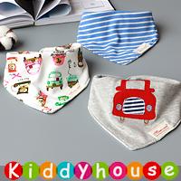 嬰兒用品~三角巾雙層純棉口水肩bib(3件裝) BB780 現貨