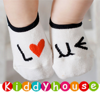 bb嬰兒用品~優質可愛I Love U嬰兒襪/小童地板襪 S219 現貨