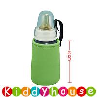 BB嬰兒用品~優質設計嬰兒奶瓶闊口保溫袋(青綠/10cm高) OT115 現貨