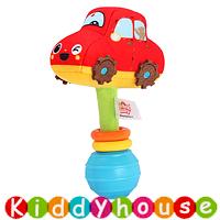 bb嬰兒玩具~趣緻卡通交通工具手搖棒(汽車) T553 現貨
