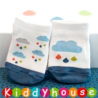 bb嬰兒用品~優質可愛小雨雲嬰兒襪/小童襪 S314 現貨(兩對以上包郵)