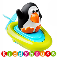 bb嬰兒玩具~拉線上鏈動物快艇沖涼/戲水玩具(企鵝) T360 現貨