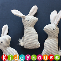 bb嬰兒玩具~小兔子BB響紙搖珠安撫玩偶 T350  現貨