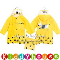 【清貨特價】開學用品~日單ANO:NE可愛兒童雨衣/童裝雨褸Raincoat(黃) KB0161 現貨