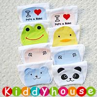bb嬰兒用品~可愛動物墊背4層紗布吸汗隔汗巾 (2條組) BB1041 現貨