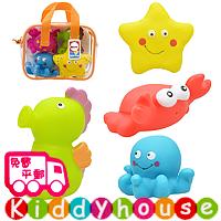 bb嬰兒玩具/禮物精選~Sozzy BB戲水/洗澡玩伴(海洋生物4件套裝) T308 現貨