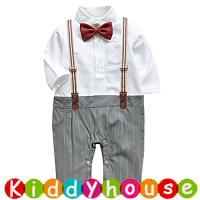 嬰幼兒bb衫~小王子假西裝夾衣+吊帶套裝 BB1448 現貨