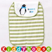 【限時特價】bb嬰兒用品~優質5層紗布大號墊背吸汗巾(企鵝) BB1375 現貨