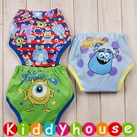 bb嬰兒用品~嬰幼兒三層棉質防水學習/戒(介)片/隔尿褲(3條裝) BB1074 現貨